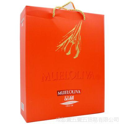 西班牙进口 品利初榨橄榄油礼盒装500ml 进口食品 橄榄油