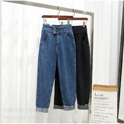 广元哪里有工厂批发市场库存韩版牛仔裤低价处理 适合摆地摊清货甩卖批发