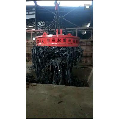 强磁起重电磁吸盘厂家鑫运供应MW5废品站钢厂用电磁铁起吊搬运