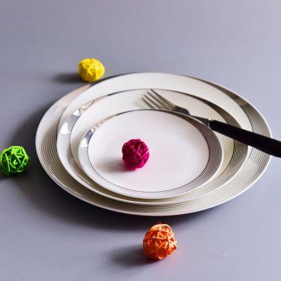 厂家直供家用陶瓷饭盘 陶瓷餐具冷菜盘热菜盘 定制创意骨瓷餐盘
