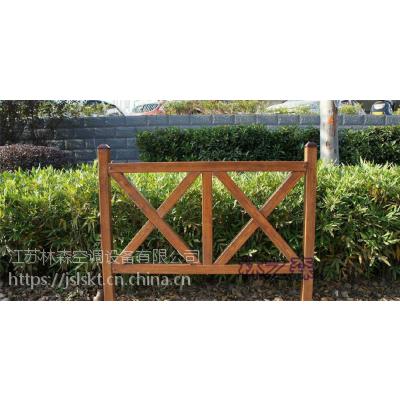 江苏林森优质木纹玻璃钢园林护栏报价