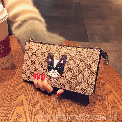 一件代发2018新款欧美大牌长款钱包女时尚拉链大容量卡包手机钱夹