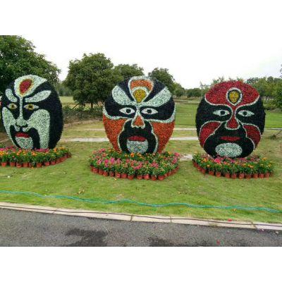 四川雕塑厂专业生产创意卡通人物造型 室外超级飞侠稻草绳 脸谱造型绿雕等等