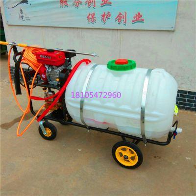 手推式高压四轮喷雾机 农用苗圃苗木打药机轻便省力打药机