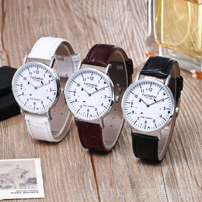 外贸速卖通热卖女款休闲腕表 时尚个性皮带银壳白面石英手表批发