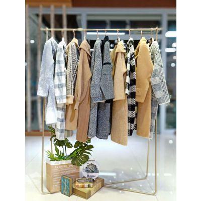 杭州设计师原创依思琪水貂绒大衣品牌折扣女装正品冬
