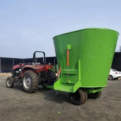 牛羊饲料搅拌机 全日粮立式拌草机 可以称重的粉碎搅拌机