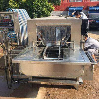佳乐BD6000周转筐清洗烘干消毒机 高压碱水塑料筐子清洗机 高效洗箱机