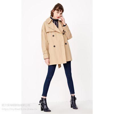 中老年服装进货渠道【现货】B2女士韩版风衣外套