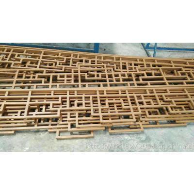 海拉尔造型仿古木纹铝挂落供应