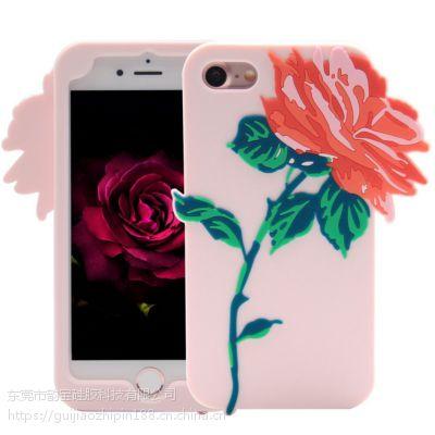 卡通滴胶硅胶手机壳生产厂家 苹果8手机套