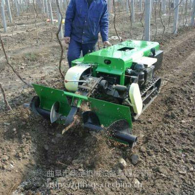 除草耕整筑垄机 柴油动力的履带式开沟机