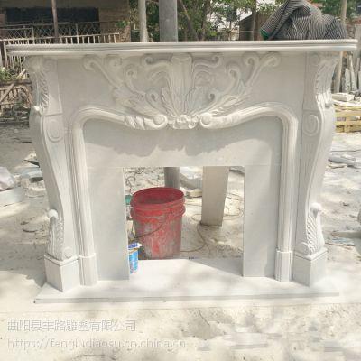 米黄天使石材壁炉架 丰路石雕 欧式石雕壁炉