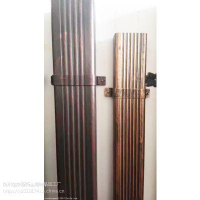 河北铝合金方形雨水管材铝合金檐沟圆管厂家直销