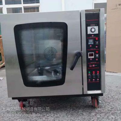 5盘8盘10盘立式热风循环烤炉 喷雾蒸汽对流面包烤箱 不锈钢欧包法棒烘烤机