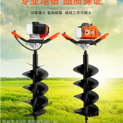 强劲动力汽油打坑机 路灯立柱钻坑机 机械式螺旋挖坑机润华