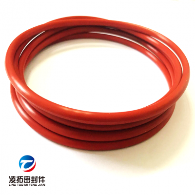 定制大尺寸红色硅胶O型圈防静电硅橡胶O型圈过ROHS无毒硅胶密封圈
