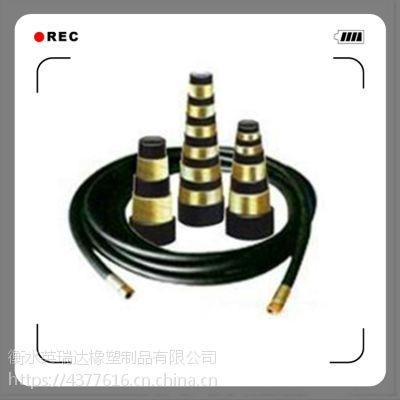 高压钢丝编织缠绕胶管总成液压油管阻燃钻井钻探胶管