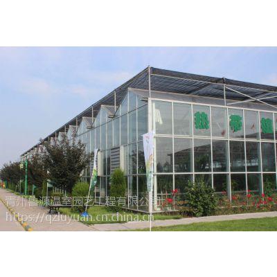 浙江生态植物工厂型玻璃温室阳光房5米棚高、595墙体1万平方面积项目总造价