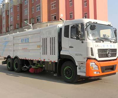 虹宇牌HYS5250TXSE5型洗扫车价格/东风天龙25吨洗扫车价格/湖北宏宇专用汽车