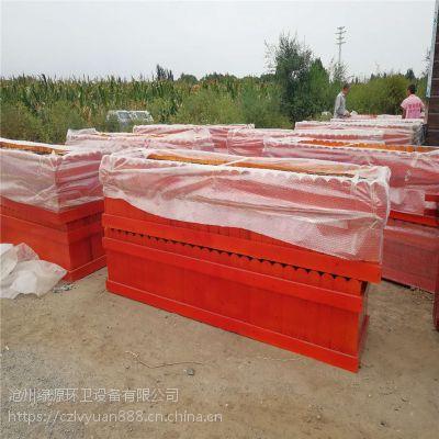 沧州防腐木花箱厂家——户外绿化景观木质花盆