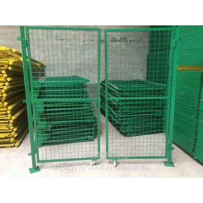 淮南宝麒护栏网厂家供应1.8*3米高工厂车间隔离网 黄色喷塑仓库围栏网 变压器pvc护栏
