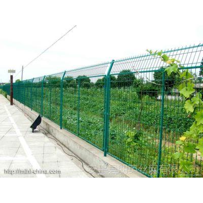 公路护栏网 朋英 框架防护网 浸塑 高速铁路隔离网 可定制