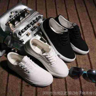 韩版女式小白鞋帆布鞋系带平底板鞋学生布鞋夏潮男女情侣款秋单鞋