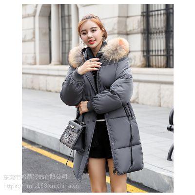 2018***新款女装棉服外套羽绒服低价批发
