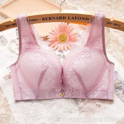 胸罩聚拢妈妈无钢圈文胸内衣大码调整中老年中年舒适妇女夏季薄款