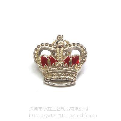 皇冠镂空徽章定制男士西服佩戴胸花迷你英国王室皇冠佩戴胸章