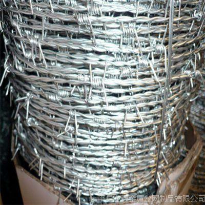 钢围界刺丝 乌鲁木齐防护刺丝 刺绳钢立柱