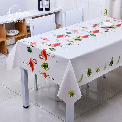 RNPT瑞年厂销 欧式简约桌布 北欧防水台布 手绘水彩桌布