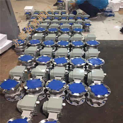 辛集市批发 Q941F-64P DN80 不锈钢国标电动球阀 Q941H-64P 开关型电动球阀