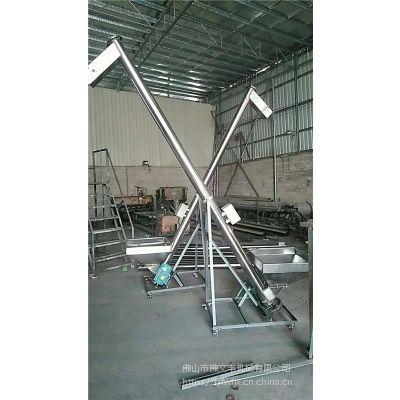 广东佛山定做不锈钢螺杆上料机 3米绞龙式全自动螺杆加料机 上料时量2吨