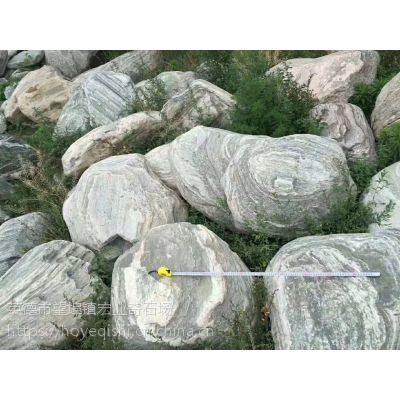惠州泰山石景观,惠州草坪点缀泰山石