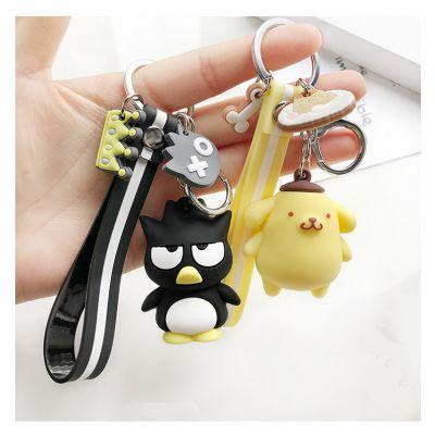 硅胶/PVC立体3D钥匙扣卡通创意动漫人物钥匙环软胶立体硅胶钥匙扣