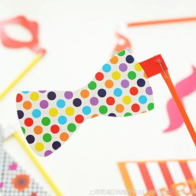 九马文具批发 新款 可爱摄影小道具 多款创意造型 彩旗