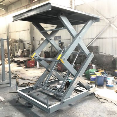 SJG剪叉式升降平台 固定式电动液压升降机 简易升降货梯制造商
