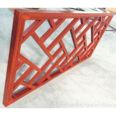 新颖创意木纹铝窗花护栏|仿木纹铝花格款式设计厂家