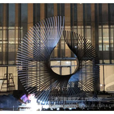 福建不锈钢城市主题景观雕塑 创意金属摆件来图定制