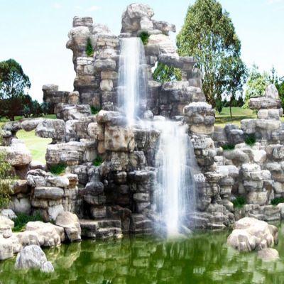 批发园林造景假山塑石小型假山鱼池室内装饰
