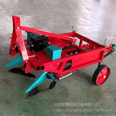 拖拉机悬挂式收果机 排放整齐的花生收获机 链条式花生收获机