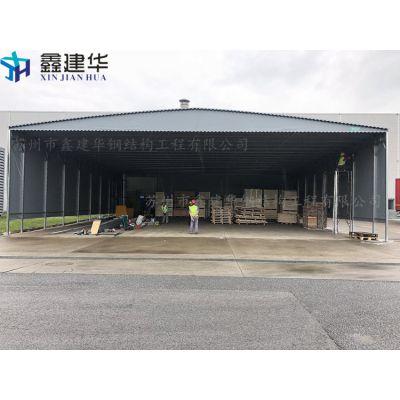 杭州市下城区厂家鑫建华帆布工厂仓库雨棚、推拉移动式帐篷、户外雨棚布生产