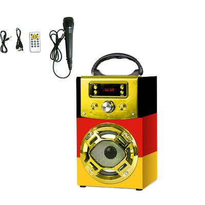 MUSICCROWNOEM 卡拉OK 手提 多功能连接 FM USB 户外蓝牙音箱 CE FCC