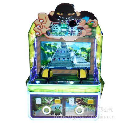 2018新款儿童娱乐亲子机怪兽来了投币游戏机模拟机枪射击大型游艺机