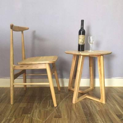 进口白橡餐椅子系列 牛角实木餐椅 咖啡椅子厂 简约休闲实木餐椅