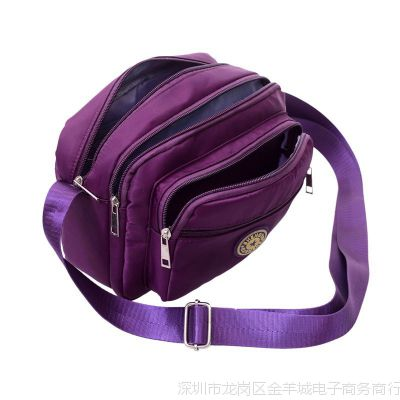 帆布女包单肩斜挎包中老年人妇女士斜跨小包包老人妈妈包迷你背包