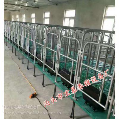 邯郸新型养殖母猪复合定位栏带底保胎限位栏出售