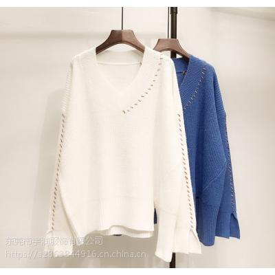 便宜低价尾货毛衣杂款时尚女装打底衫韩版库存毛衣处理几元套头毛衣清仓
